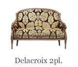 This style of Louis xvi sofa, the Delacroix, is a 2-seater